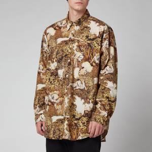 KENZO Men's Printed Shirt - Dark Camel