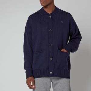 KENZO Men's Buttoned Cardigan - Blue Black