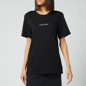Calvin Klein Women's Short Sleeve Crew Neck T-Shirt - Black