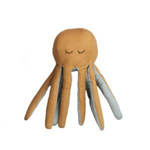 Fabelab Rattle Soft - Octopus - Blue Spruce