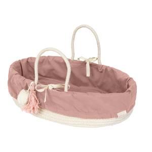 Fabelab Doll Basket - Mauve Lined