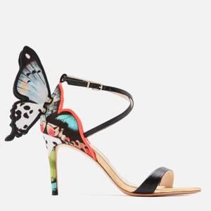 Sophia Webster Women's Chiara Embroidery Mid Heeled Sandals - Black/Melange