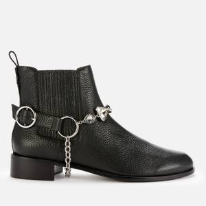 Sophia Webster Women's Bessie Leather Chelsea Boots - Black Leather/Crystal Harness