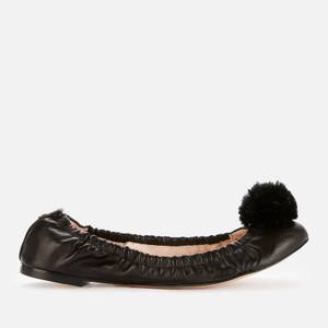Sophia Webster Women's Nina Pom-Pom Ballet Flats - Black