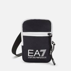 EA7 Men's Contrast Logo Crossbody Bag - Night Blue/White