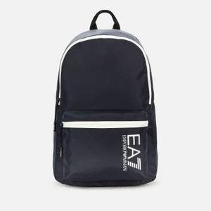 EA7 Men's Contrast Logo Backpack - Night Blue/White