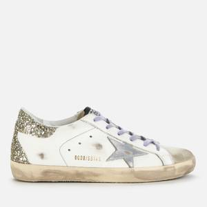 Golden Goose Deluxe Brand Women's Superstar Leather Trainers - White/Ice/Silver