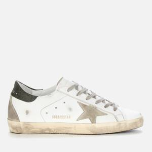 Golden Goose Deluxe Brand Women's Superstar Leather Trainers - White/Ice/Military