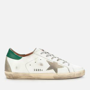 Golden Goose Deluxe Brand Women's Superstar Leather Trainers - White/Ice/Green
