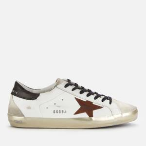 Golden Goose Deluxe Brand Men's Superstar Leather Trainers - White/Chestnut/Ice