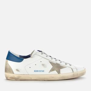 Golden Goose Deluxe Brand Men's Superstar Leather Trainers - White/Ice/Blue