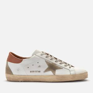 Golden Goose Deluxe Brand Men's Superstar Leather Trainers - White/Ice/Light Brown