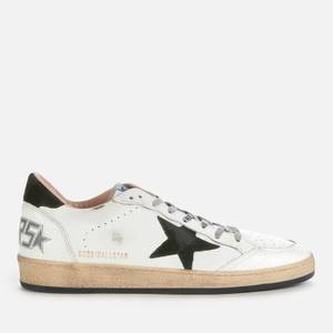 Golden Goose Deluxe Brand Men's Ball Star Leather Trainers - White/Military Green