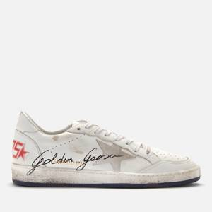 Golden Goose Deluxe Brand Men's Ball Star Leather Trainers - White/Blue/Red