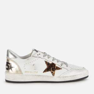 Golden Goose Deluxe Brand Women's Ball Star Leather Trainers - White/Beige Brown