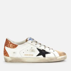 Golden Goose Deluxe Brand Women's Superstar Leather Trainers - White/Capuccino/Black