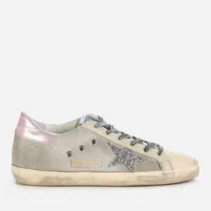 Golden Goose Deluxe Brand Women's Superstar Mesh Trainers - Silver/Cream/Milk