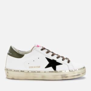 Golden Goose Deluxe Brand Women's Hi Star Flatform Leather Trainers - White/Black/Dark Green