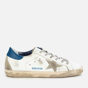 Golden Goose Deluxe Brand Women's Superstar Leather Trainers - White/Ice/Blue