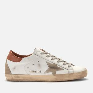 Golden Goose Deluxe Brand Women's Superstar Leather Trainers - White/Ice/Brown