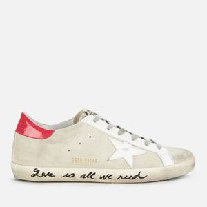 Golden Goose Deluxe Brand Women's Superstar Suede Trainers - Ice/White/Light Red