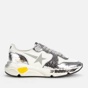Golden Goose Deluxe Brand Women's Running Style Trainers - White/Silver
