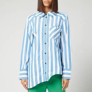 Ganni Women's Stripe Cotton Shirt - Daphne