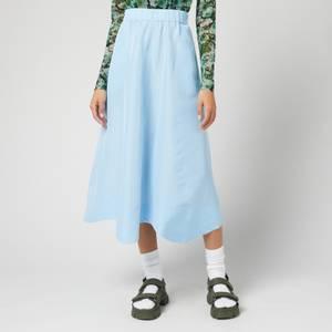Ganni Women's Taffeta Skirt - Airy Blue