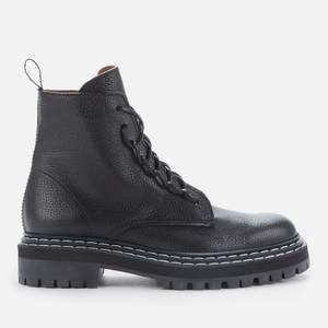 Proenza Schouler Women's Lug Sole Leather Combat Boots - Black