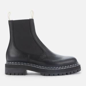 Proenza Schouler Women's Lug Sole Leather Chelsea Boots - Black