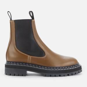 Proenza Schouler Women's Lug Sole Leather Chelsea Boots - Oak