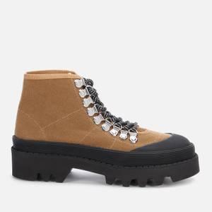 Proenza Schouler Women's City Lug Canvas Hiking Style Boots - Oak/Black
