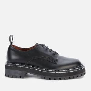 Proenza Schouler Women's Lug Sole Leather Derby Shoes - Black
