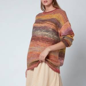 Holzweiler Women's Sandaker Knitted Sweatshirt - Yellow Mix