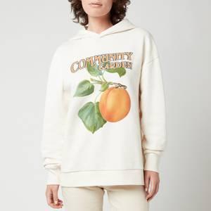 Holzweiler Women's Regular Peach Print Hoodie - Ecru