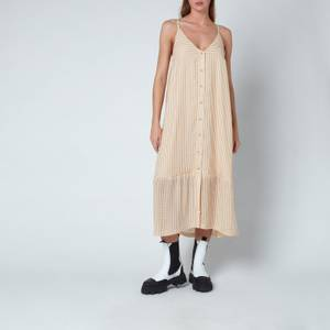 Holzweiler Women's Svinten Check Dress - Light Camel