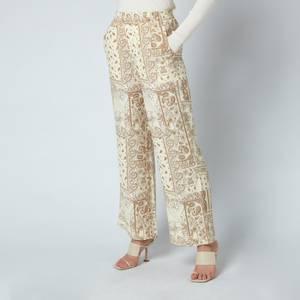 Holzweiler Women's Nuka Print Trousers - Light Yellow Mix