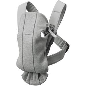 BABYBJÖRN Classics Baby Mini Carrier - Light Grey 3D Jersey