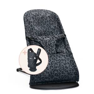 BABYBJÖRN Bouncer Bliss & Baby Carrier Mini Bundle - Anthracite Leopard
