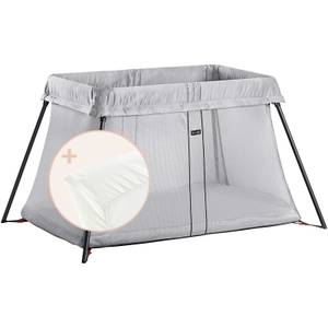 BABYBJÖRN Travel Cot and Fitted Sheet - Silver