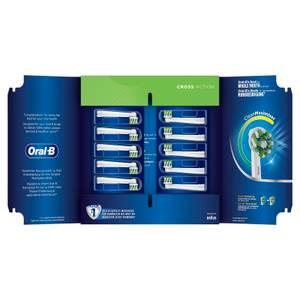 CrossAction Opzetborstels, Verpakking 10-Pak