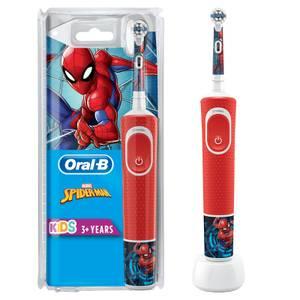 Kids Spiderman Elektrische Zahnbürste, ab 3 Jahren, rot