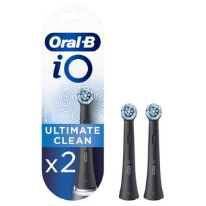 Oral-B iO Ultimate Clean Black Toothbrush Heads, Pack of 2 Counts