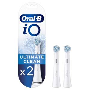 Oral-B iO Ultimate Clean Toothbrush Heads, Pack of 2 Counts