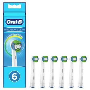 Oral-B Precision Clean Toothbrush Head with CleanMaximiser Technology, Pack of 6 Counts