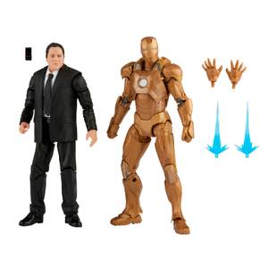 Hasbro Marvel Legends Series 6-inch Happy Hogan and Iron Man Mark 21 Action Figure 2 Pack