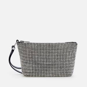 Alexander Wang Women's Heiress Crystal Soft Clutch Bag - White