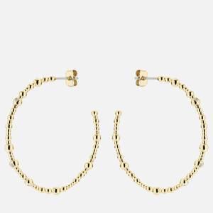 Ted Baker Women's Belsana: Crystal Large Hoop Earring - Gold Tone/Clear Crystal