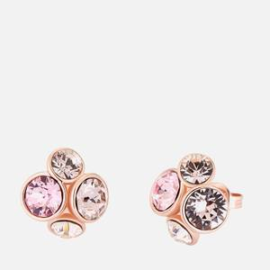 Ted Baker Women's Pelipa: Flower Stud Earring - Silver Tone/Clear Crystal