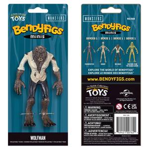 Noble Collection Universal Monsters Wolfman Mini Bendyfig 5.5 Inches